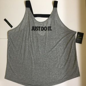 Nike Plus Size Breathe Open Back Tank Top